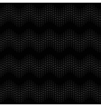 Wave seamless pattern black vector image