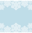 lace snowflakes borders on blue vector image vector image