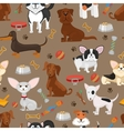 Cute funny dogs seamless pattern vector image