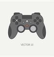 line flat color computer part icon joystick vector image