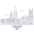 Adelaide city skyline vector image