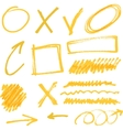 highlighter elements vector image vector image