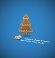 Christmas card - ginger breads with white icing vector image vector image