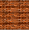 Seamless pattern of red brick with cracks and vector image