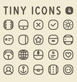 Tiny Line Icons for web and mobile applications vector image vector image
