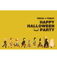 Poster Flat background for Halloween kid walk vector image