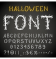 Scary font vector image