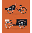 Delivery Cart Set vector image