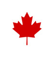 canada maple leaf icon simple vector image