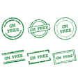 GM free stamps vector image