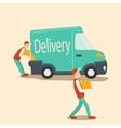 Delivery car cartoon vector image vector image