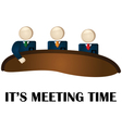 Meeting time vector image vector image
