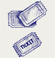 Ticket vector image vector image