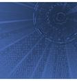 Dark blue technology background template vector image