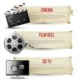 cinema banners vector image