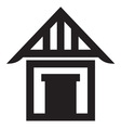 House icon2 resize vector image vector image