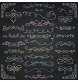 Chalk Drawing Vintage Hand Drawn Swirls vector image