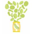 Potato chips taste of Zucchini Packaging bag of vector image