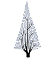 stylized fur-tree vector image vector image