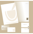 Letterheads and business cards vector image vector image
