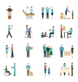 Charity Donation Icons Set vector image