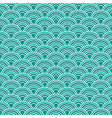abstract waves simple seamless blue tone pattern vector image