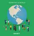 be worldwide cosmopolitan globalization flat 3d vector image