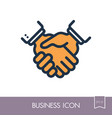 business handshake contract agreement icon vector image