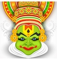 Colorful Kathakali Face vector image