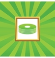 Disc pile picture icon vector image