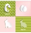 Easter celebrations greeting card set vector image