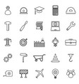 Engineering line icons on white background vector image