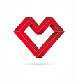 Heart abstract impossible geometric shapes vector image