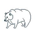 pixel bear vector image