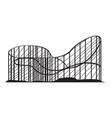 roller coaster icon vector image
