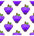 seamless pattern bunch of grapes with leaves on vector image