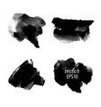 set of abstract black ink blots vector image