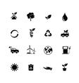 Set of ecology icon isolated on white background vector image