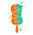 Silhouette of colorful ice cream vector image