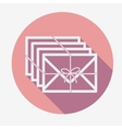 Single flat mail icon with long shadow vector image