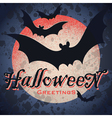 vintage grungy Halloween design vector image