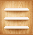 wood shelf vector image