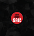 Black Friday sale with low poly design vector image