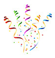 Surprise party streamers with confetti vector image