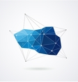 Polygonal geometric 3D printing background vector image