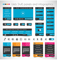 Web Design Stuff price panels Login forms headers vector image vector image
