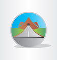highway tunnel in mountain design vector image
