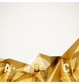 Geometric shapes in the air abstract vector image