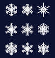 white snowflakes vector image vector image