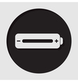 information icon - white battery full vector image